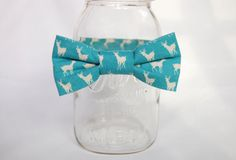 Toddler Boy Baby Bow Tie in Blue and Cream Tiny by littleseason, $15.00