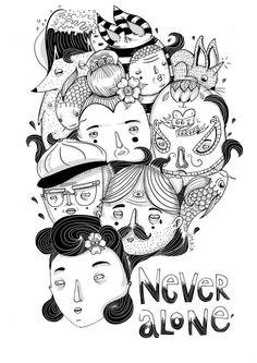"""Never alone"" by Amaia Arrazola Illustration"