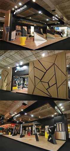 Creative Point of purchase displays and exhibition booths for trade-shows created by TriadCreativeGroup.com inspired by artistic design and architecture similar to the booth above
