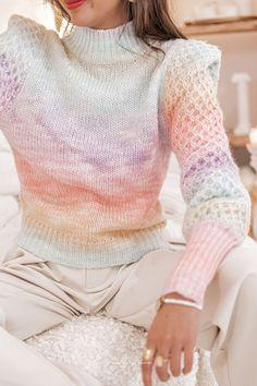 RAINBOW Multicolore - Maille en laine Pulls, Turtle Neck, Sweaters, Fashion, Wool, Moda, Fashion Styles, Sweater, Fashion Illustrations