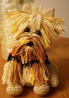 Yorkshire terrier: free Amigurumi crochet pattern