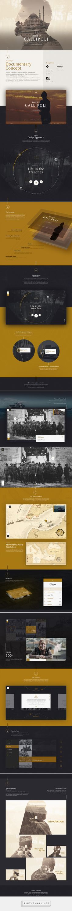 Sons of Gallipoli: Interactive Documentary on Behance