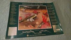 Gray's Reef National Marine Sanctuary Poster Vintage Large Biologist Sea Art