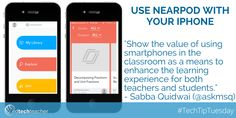 #TechTipTuesday from #ettSummit presenter Sabba Quidwai: Use Nearpod on your iPhone to engage Ss #edtechchat