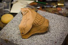 Skull Handmade Leather MC Mask WIP