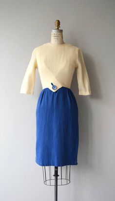 Right Angles dress vintage 1960s dress 60s wool dress