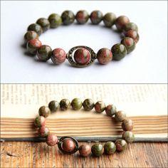 Hey, I found this really awesome Etsy listing at https://www.etsy.com/listing/269247506/gift-gemstone-green-bracelet-unakite