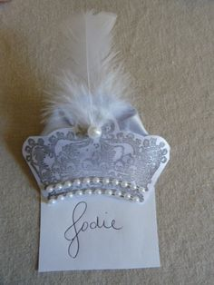 Crown Name Tag Pin