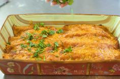 Simple Perfect Beef Enchiladas.  I am doing this for my next family gathering! We love enchiladas!