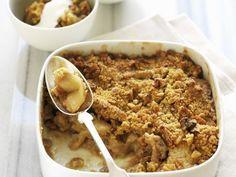 Apfel-Crumble mit Walnüssen ist ein Rezept mit frischen Zutaten aus der Kategorie Kernobst. Probieren Sie dieses und weitere Rezepte von EAT SMARTER!