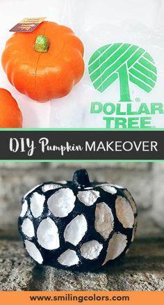 Dollar Tree Pumpkin Makeover- a 4 step quick video tutorial Dollar Tree Pumpkins, Foam Pumpkins, Dollar Tree Crafts, Halloween Activities, Halloween Crafts, Halloween Decorations, Fall Crafts, Holiday Crafts, Handmade Crafts