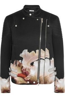 Givenchy Biker jacket in orchid-print scuba-jersey | NET-A-PORTER
