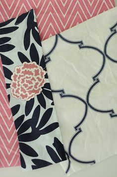 navy and pink  Caitlin Wilson Textiles