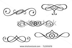 stock vector : Design elements and monograms isolated on white. Jpeg version also available in gallery