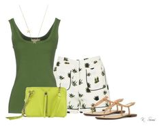 """Green"" by ksims-1 ❤ liked on Polyvore featuring Topshop, Michael Kors, Sam Edelman and Kelsi Dagger Brooklyn"