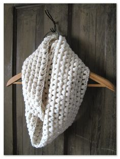 Happy as a Lark: Crocheting a Puff Stitch Infinity Scarf