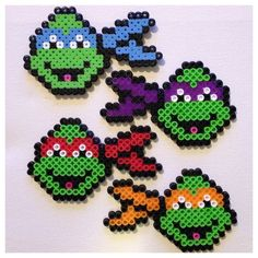 Teenage Mutant Ninja Turtles Christmas Ornaments Magnets TMNT (Set of 4). $10.00, via Etsy.