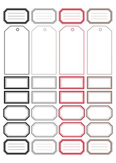 Étiquettes à imprimer :