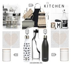 """""""K I T C H E N"""" by efashiondiva7 ❤ liked on Polyvore featuring interior, interiors, interior design, home, home decor, interior decorating, Watershed, Riess, S'well and Kate Spade"""