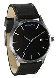 MVMT Watches Silver Case with Black Leather Strap Men's Watch MVMT Watches http://www.amazon.com/dp/B00VIP42TQ/ref=cm_sw_r_pi_dp_eXZNvb1G4R5SE - best mens watches, mens watches designer sale, mens watches deals