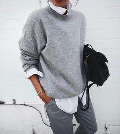 "16.9b Beğenme, 44 Yorum - Instagram'da ⠀⠀⠀⠀⠀⠀⠀⠀⠀⠀⠀⠀SENSE OF STYLE (@senstylable): ""The classics #look #ootd #grey #oversized"""