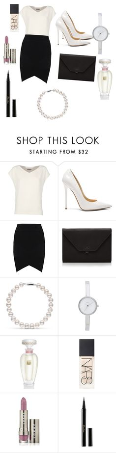 """""""Untitled #3"""" by loversofblack on Polyvore featuring Alberto Biani, Jimmy Choo, Valextra, DKNY, Lalique, NARS Cosmetics, LORAC and Guerlain"""