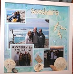 Coastal Decor, Beach, Nautical Decor, DIY Decorating, Crafts, Shopping | Completely Coastal Blog: 7 Creative Beach Vacation Photo Display Ideas