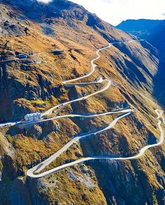 🌎 Some roads are meant to be seen from a distance. Places In Switzerland, Visit Switzerland, Vacation Places, Places To Travel, Places To See, Beautiful Roads, Beautiful Places, Dangerous Roads, Places Around The World