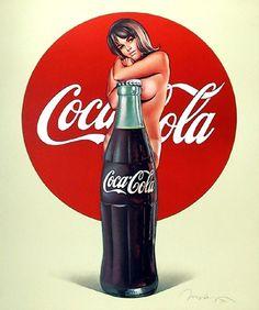 Coca Cola Pin Up Advert - Mel Ramos