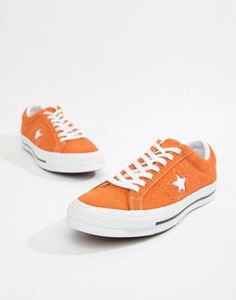 buy popular 0205a 74fad Converse   Converse One Star Ox Plimsolls In Orange Orange Converse, Orange  Sneakers, Converse