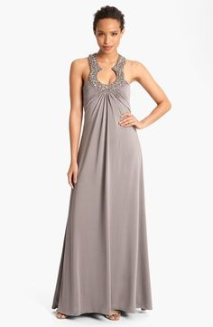 JS Boutique Embellished Charmeuse Gown available at #Nordstrom