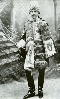 Major General Sir Malik Mohammed Umar Hayat Khan GBE KCIE MVO (1875–1944), was a soldier of the Indian Empire, one of the largest landholders in the Punjab, and an elected member of the Council of State of India. Shown at the Delhi Durbar of 1911, were Khan acted as Assistant Herald to Brigadier General William Peyton, the Delhi Herald Extraordinary.