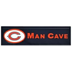 Chicago Bears Man Cave Wooden Bar Sign