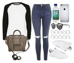 """Style #9972"" by vany-alvarado ❤ liked on Polyvore featuring Topshop, Topman, CÉLINE, adidas, Christian Dior and ASOS"