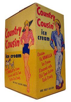Country Cousin Ice Cream Carton.