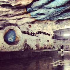 underground station art | Underground art, Tensta Station. | Underground