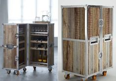 Roadie Mini Bar -- inspired by touring road crews and their traveling cases