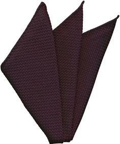 Dark Purple Grenadine Silk Pocket Square #35
