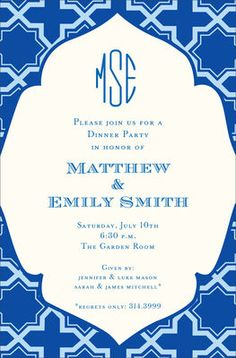 Dignified Blue Invitations