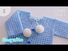 Como tejer paso a paso un saquito, chambrita a crochet , gancho . Crochet Baby Cardigan Free Pattern, Cardigan Au Crochet, Crochet Shawl Diagram, Crochet Baby Jacket, Baby Sweater Patterns, Crochet Square Patterns, Crochet Baby Clothes, Baby Knitting Patterns, Sweater Cardigan