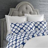 I'd love to redo our bedroom in a deep blue and cream color scheme.  Found it at Wayfair - Hollywood Printed Duvet Cover