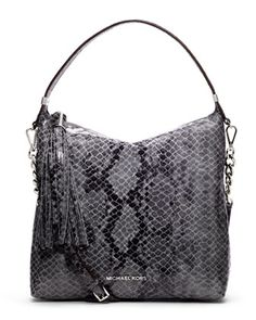 MICHAEL Michael Kors  Medium Weston Snake-Print Shoulder Bag.