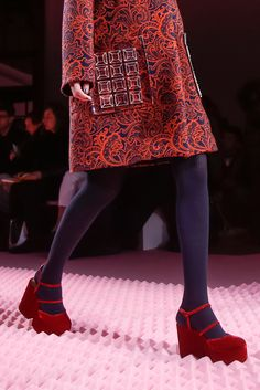 Mary Katrantzou AW'15/16 #red #shoes #redshoes #style #fashion #mode #godsaveshoes