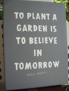 Audrey Hepburn - Tomorrow (we need one of these in the school garden)