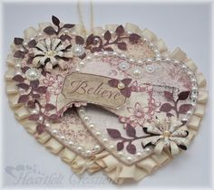 Heartfelt Creations   Pearled Juliet Hearts