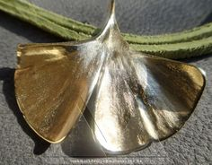 my Ginkgo 925 Silber vergoldet - Ginkgo Silber Schmuck Hamburg online shop Anhänger Kette Symbol