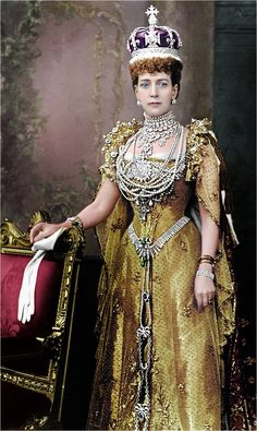 Princess Alexandra of Wales, consort of King Edward VII. & I should be studying Beautiful Princess of Wales Princesa Alexandra, Alexandra Of Denmark, Eugenie Of York, Royal Tiaras, British Royal Families, Queen Of England, Royal Jewelry, Kaiser, Edwardian Fashion