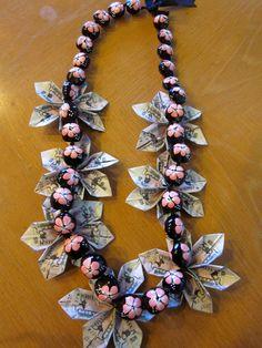 GRAD or Wedding Money Lei by PCbyMarilyn on Etsy