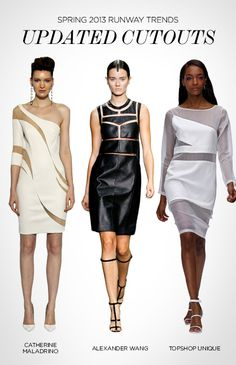 Spring 2013 runway trends: updated cutouts via Style.com