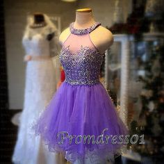 2015 cute purple organza beaded sparkly short prom dress for teens, homecoming dress, ball gown, junior prom dress #promdress